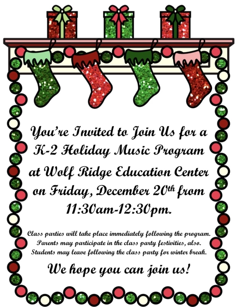 K-2 Holiday Music Program
