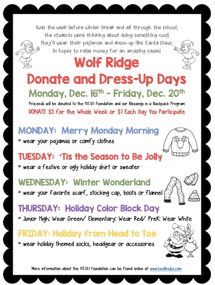 Wolf Ridge Donate and Dress-Up Days