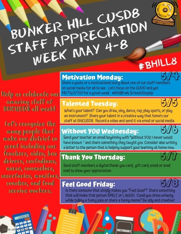 #BHill8 Staff Appreciation Week 2020