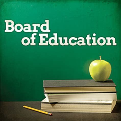 Board of Education Meeting Changes