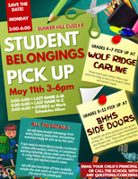 Student Belongings Pickup Schedule