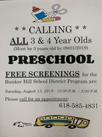 Pre-School Screenings