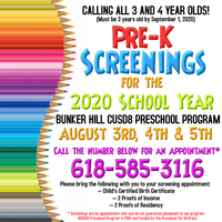 Bunker Hill PreK Screenings