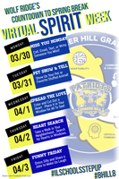 Virtual Spirit Week March 30-April 3