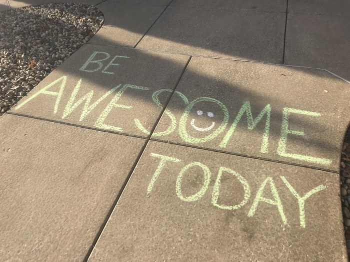 Sidewalk Motivation for Test Takers
